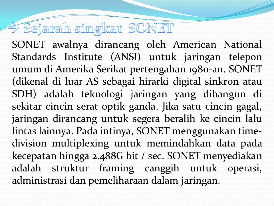  Sejarah singkat SONET