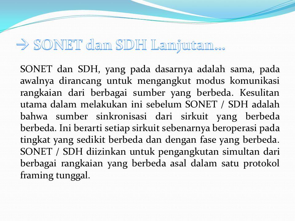  SONET dan SDH Lanjutan…