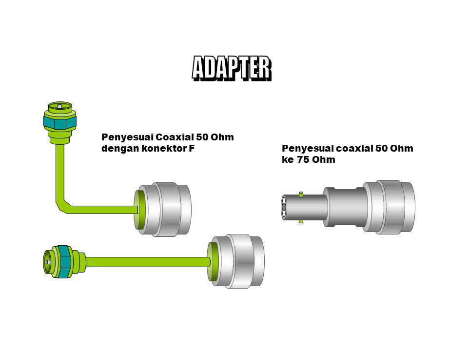ADAPTER Penyesuai Coaxial 50 Ohm dengan konektor F