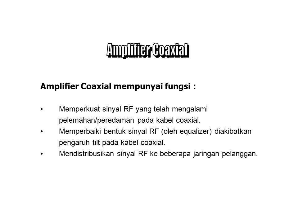 Amplifier Coaxial Amplifier Coaxial mempunyai fungsi :