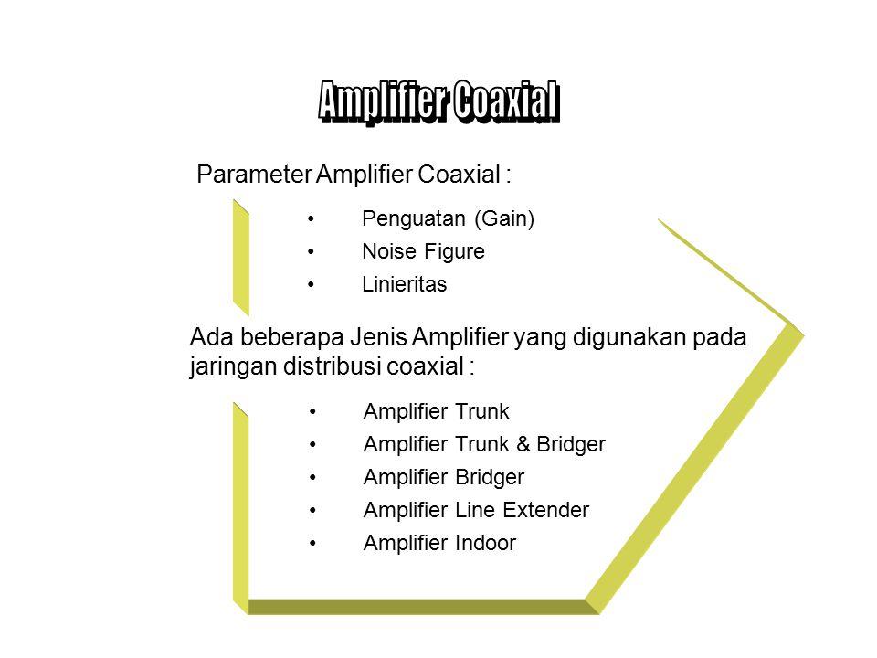 Amplifier Coaxial Parameter Amplifier Coaxial :