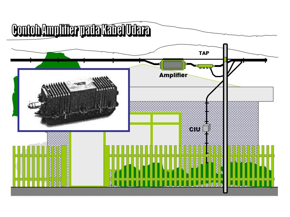 Contoh Amplifier pada Kabel Udara