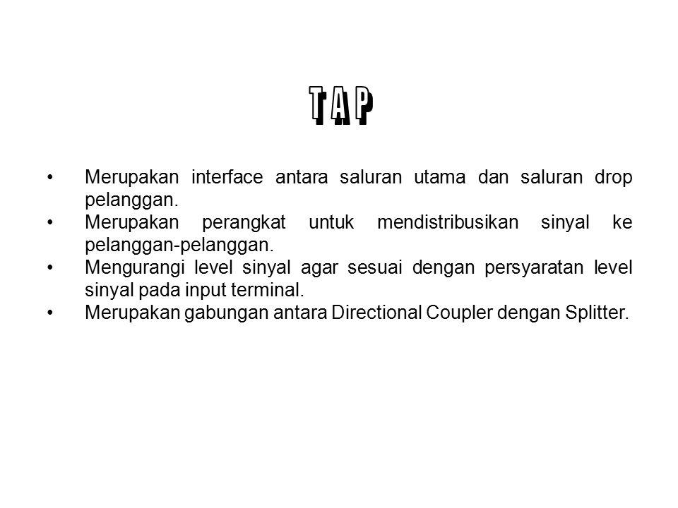 T A P Merupakan interface antara saluran utama dan saluran drop pelanggan.