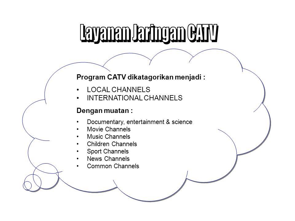 Layanan Jaringan CATV Program CATV dikatagorikan menjadi :