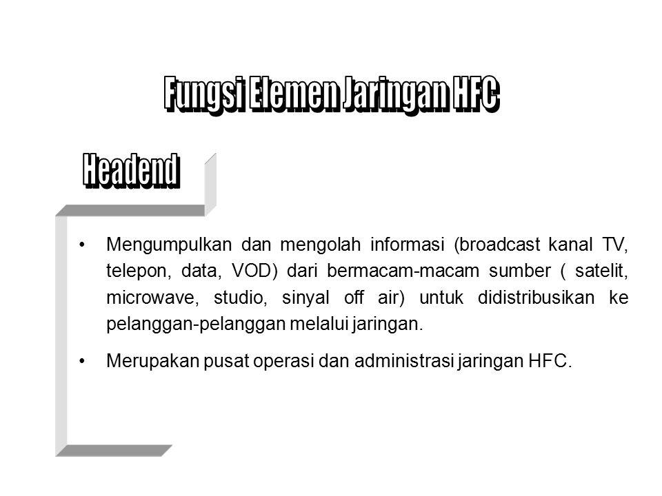 Fungsi Elemen Jaringan HFC