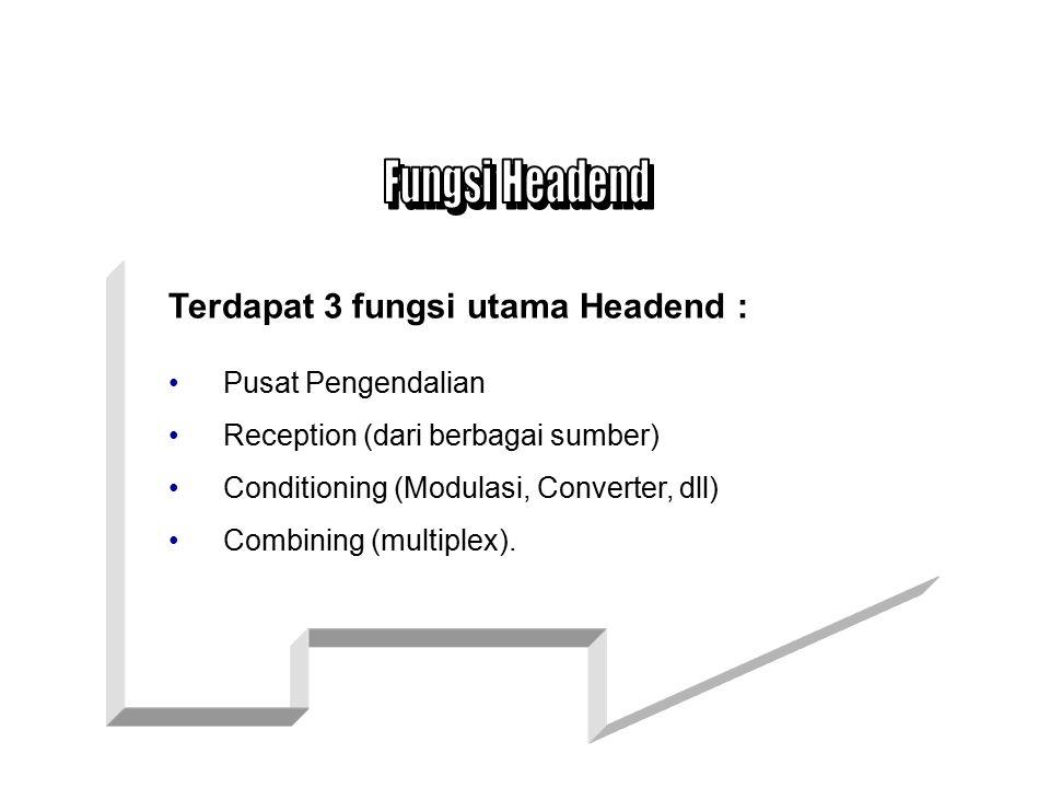 Fungsi Headend Terdapat 3 fungsi utama Headend : Pusat Pengendalian