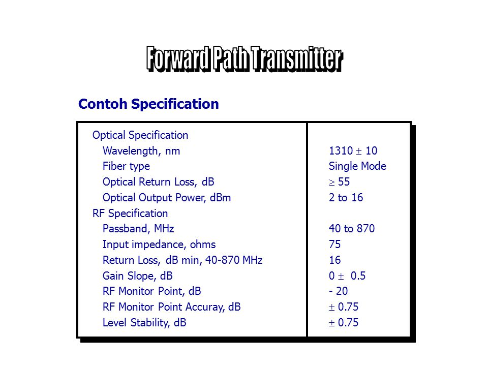 Forward Path Transmitter