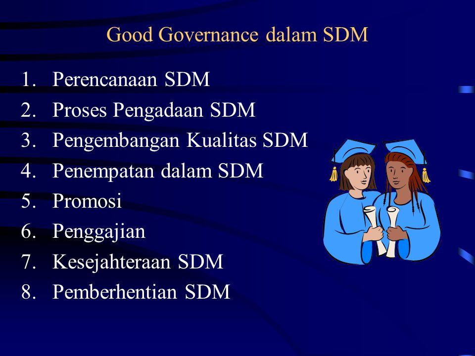 Good Governance dalam SDM