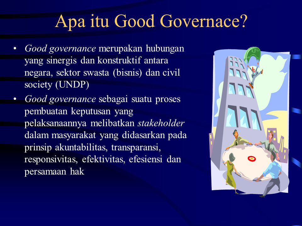 Apa itu Good Governace