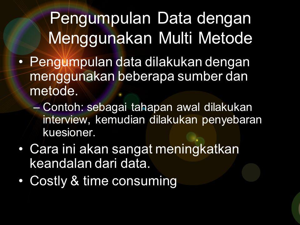 Pengumpulan Data dengan Menggunakan Multi Metode