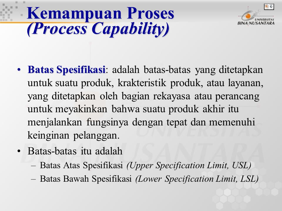 Kemampuan Proses (Process Capability)