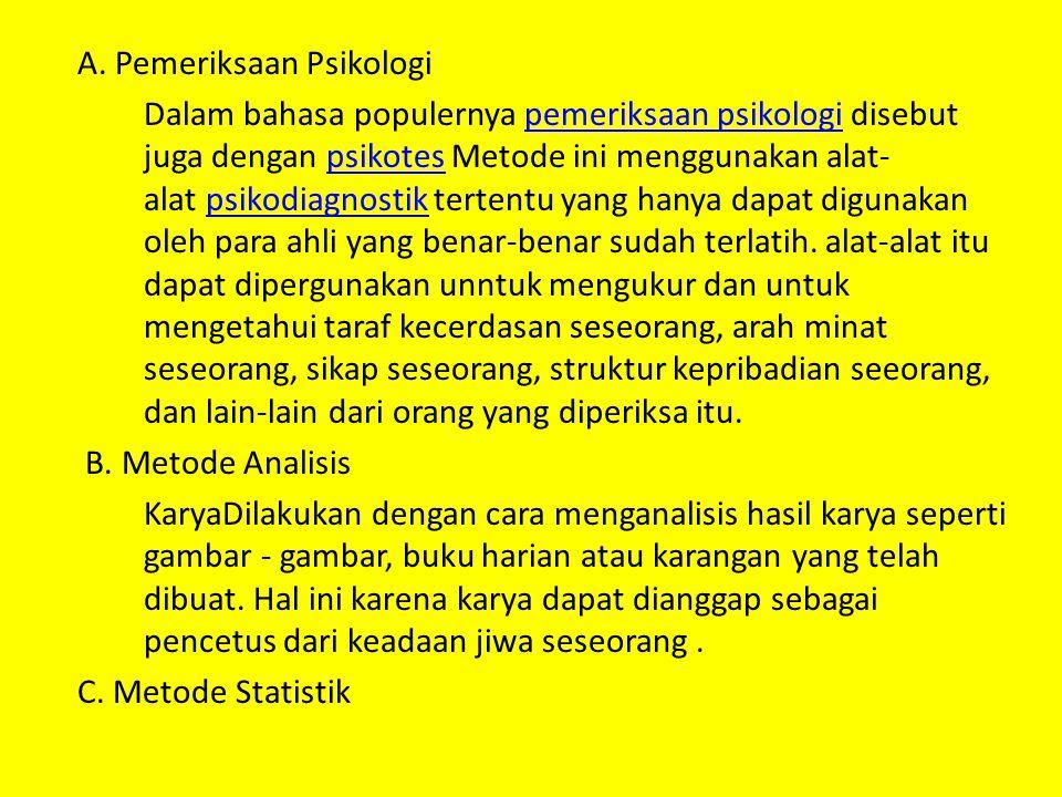 A. Pemeriksaan Psikologi