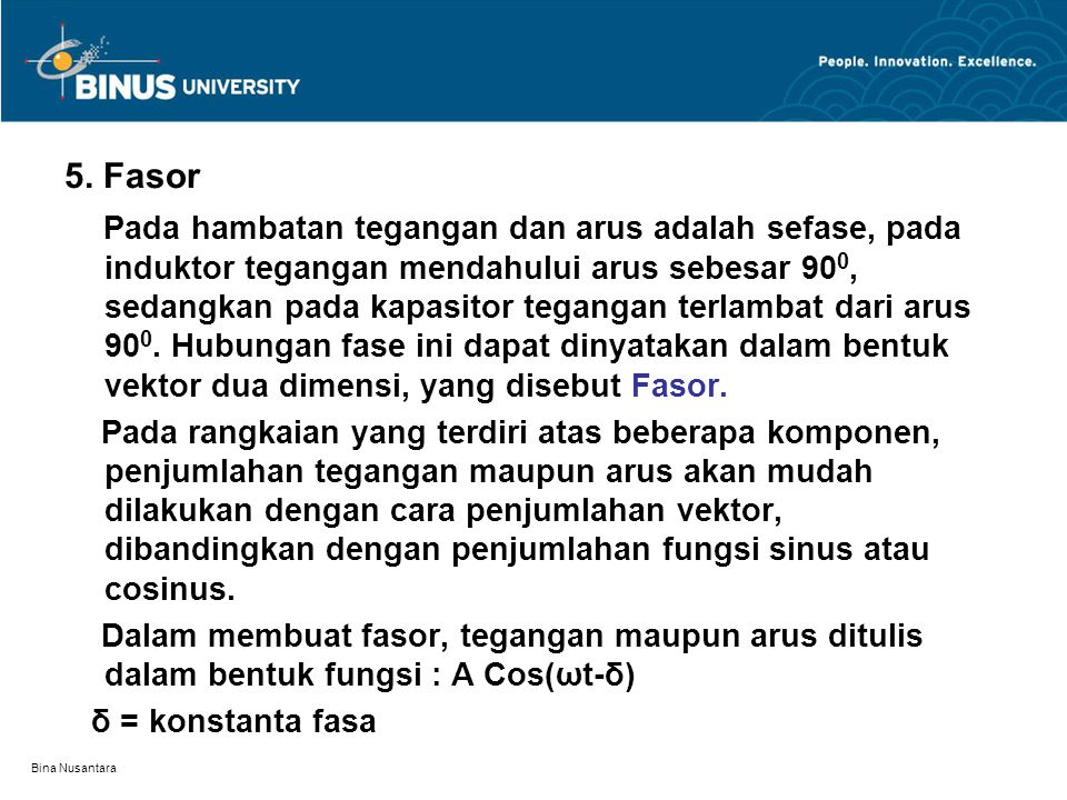 5. Fasor