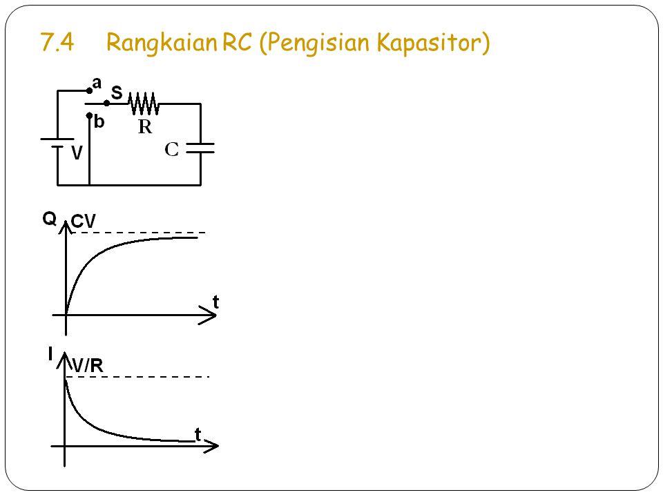 7.4 Rangkaian RC (Pengisian Kapasitor)