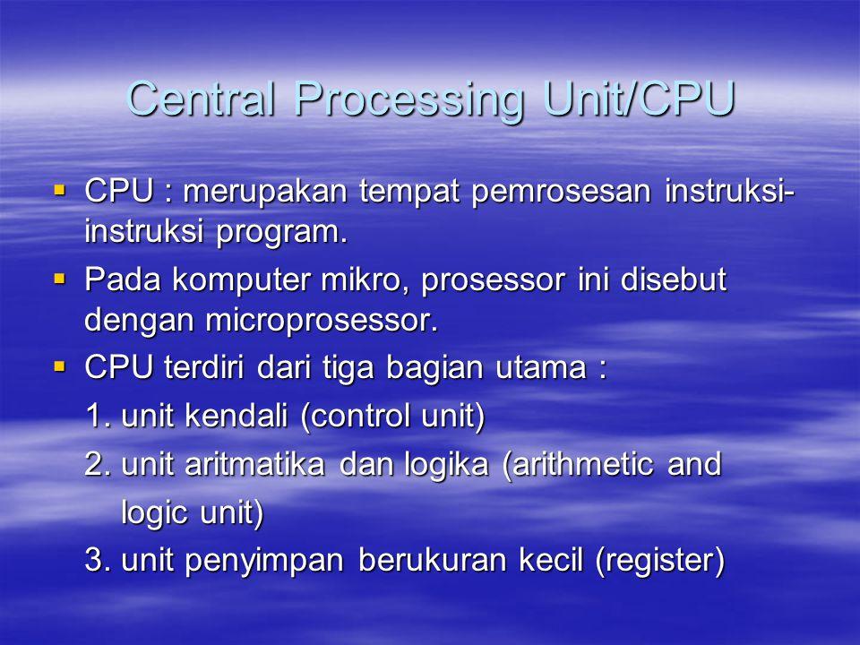 Central Processing Unit/CPU