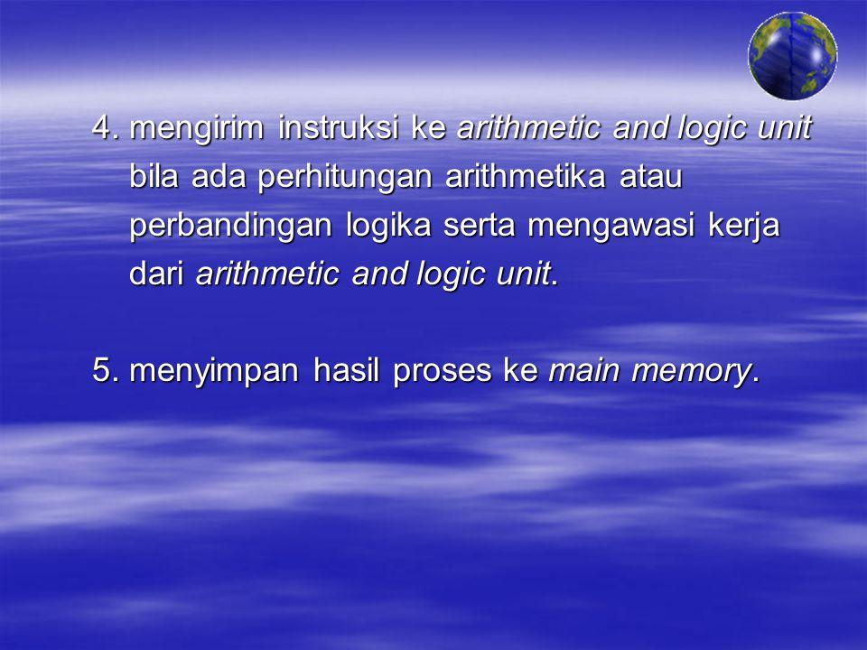 4. mengirim instruksi ke arithmetic and logic unit