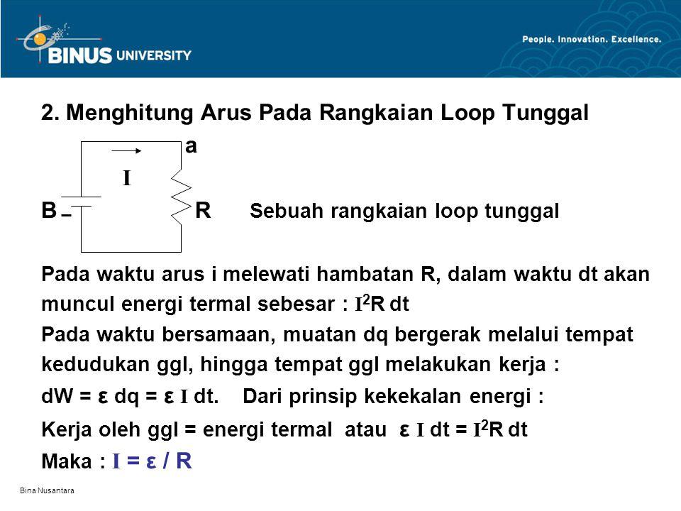 2. Menghitung Arus Pada Rangkaian Loop Tunggal a I