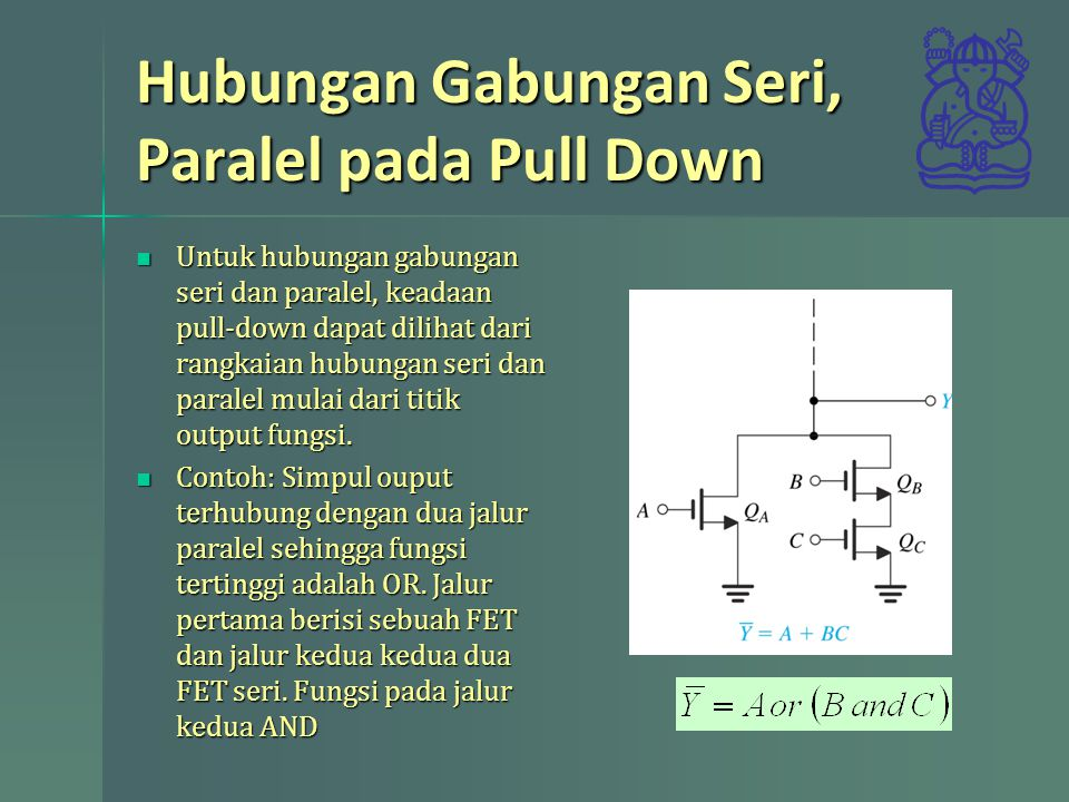 Hubungan Gabungan Seri, Paralel pada Pull Down
