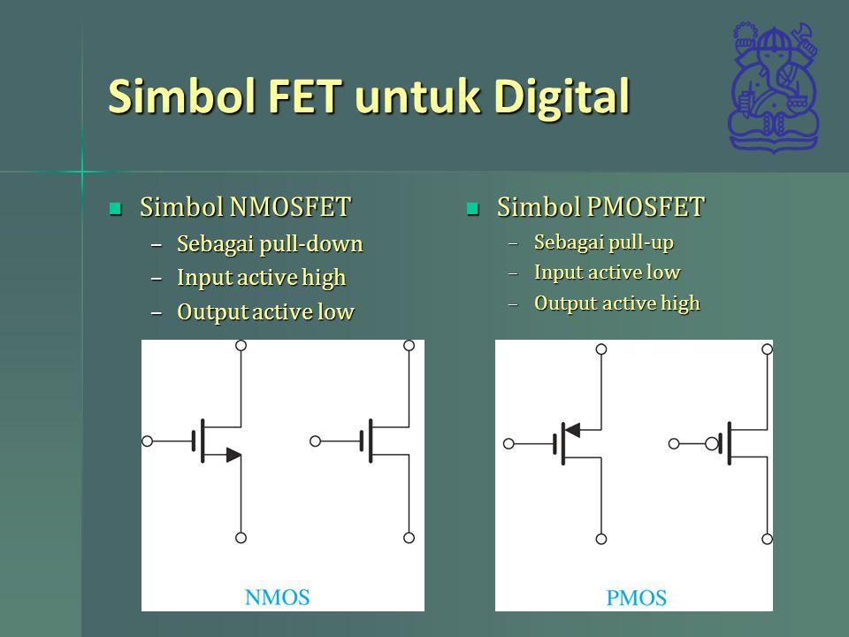 Simbol FET untuk Digital