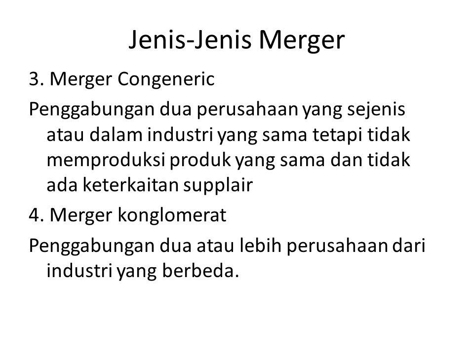 Jenis-Jenis Merger
