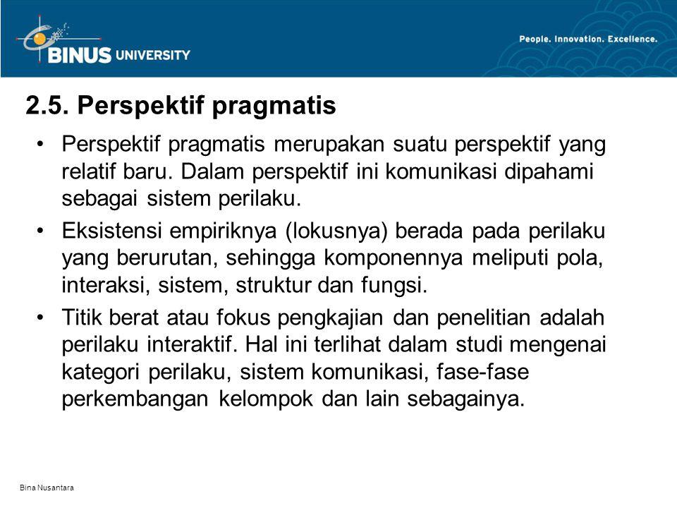 2.5. Perspektif pragmatis