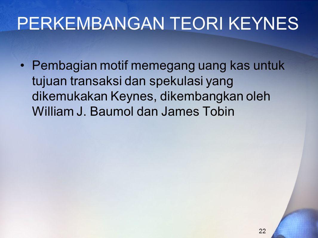 PERKEMBANGAN TEORI KEYNES