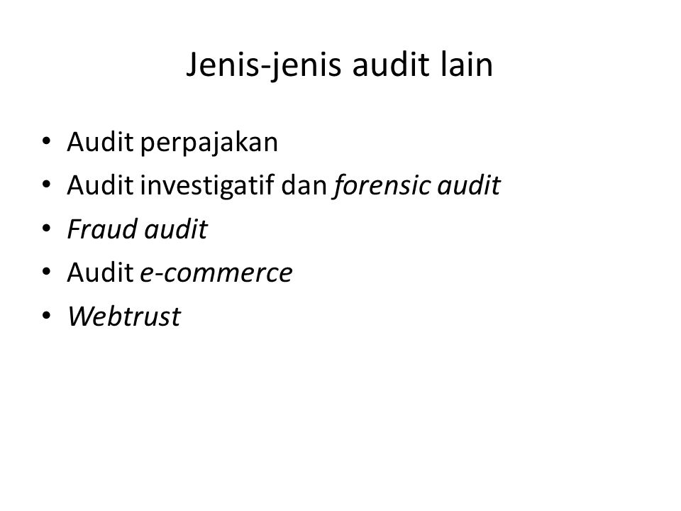 Jenis-jenis audit lain