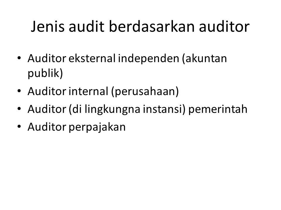 Jenis audit berdasarkan auditor