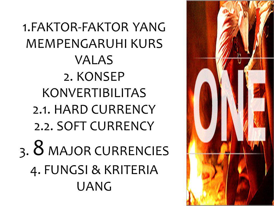 1. FAKTOR-FAKTOR YANG MEMPENGARUHI KURS VALAS 2