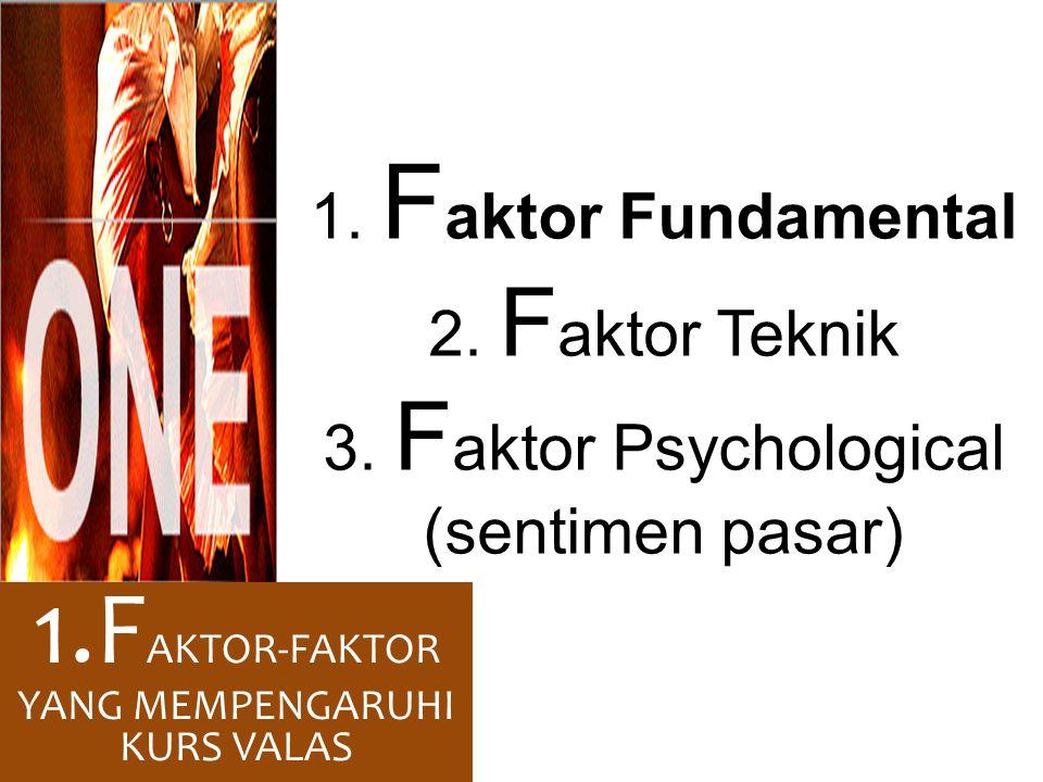 1.FAKTOR-FAKTOR YANG MEMPENGARUHI KURS VALAS