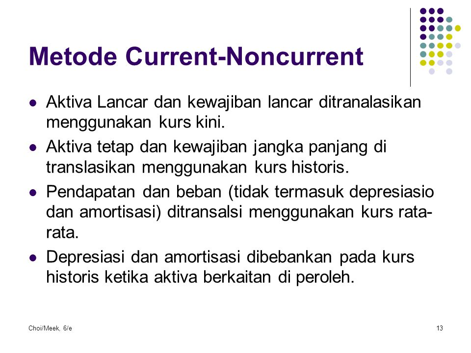 Metode Current-Noncurrent