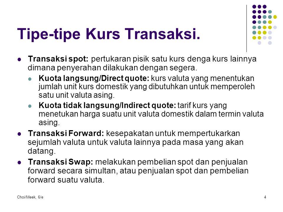 Tipe-tipe Kurs Transaksi.