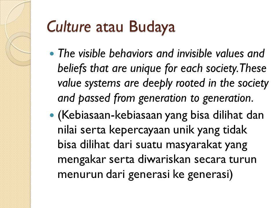 Culture atau Budaya