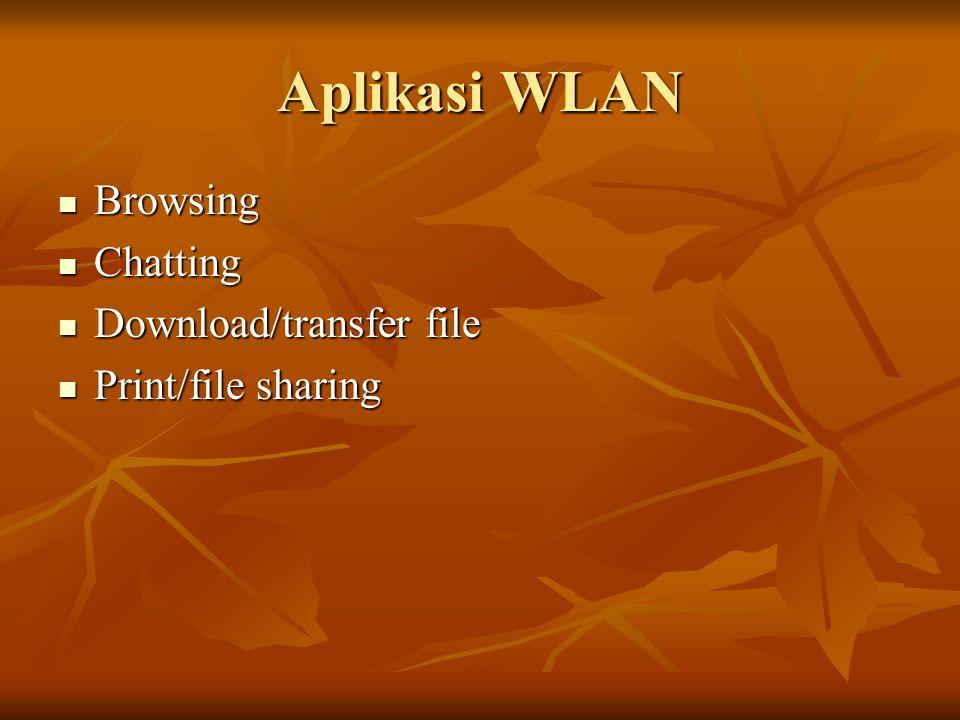 Aplikasi WLAN Browsing Chatting Download/transfer file