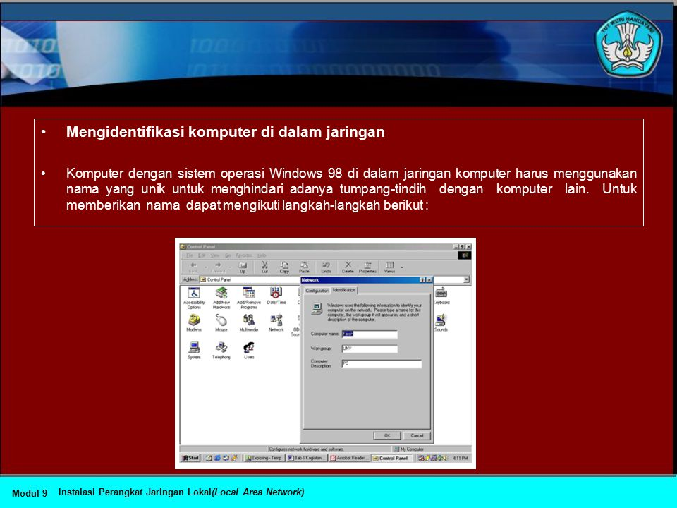 Mengidentifikasi komputer di dalam jaringan