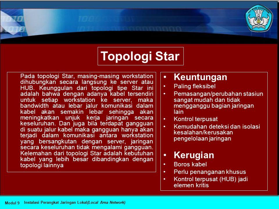 Topologi Star Keuntungan Kerugian