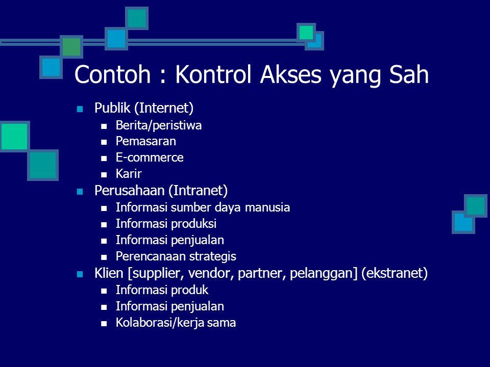 Contoh : Kontrol Akses yang Sah
