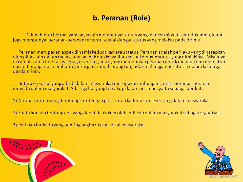 b. Peranan (Role)