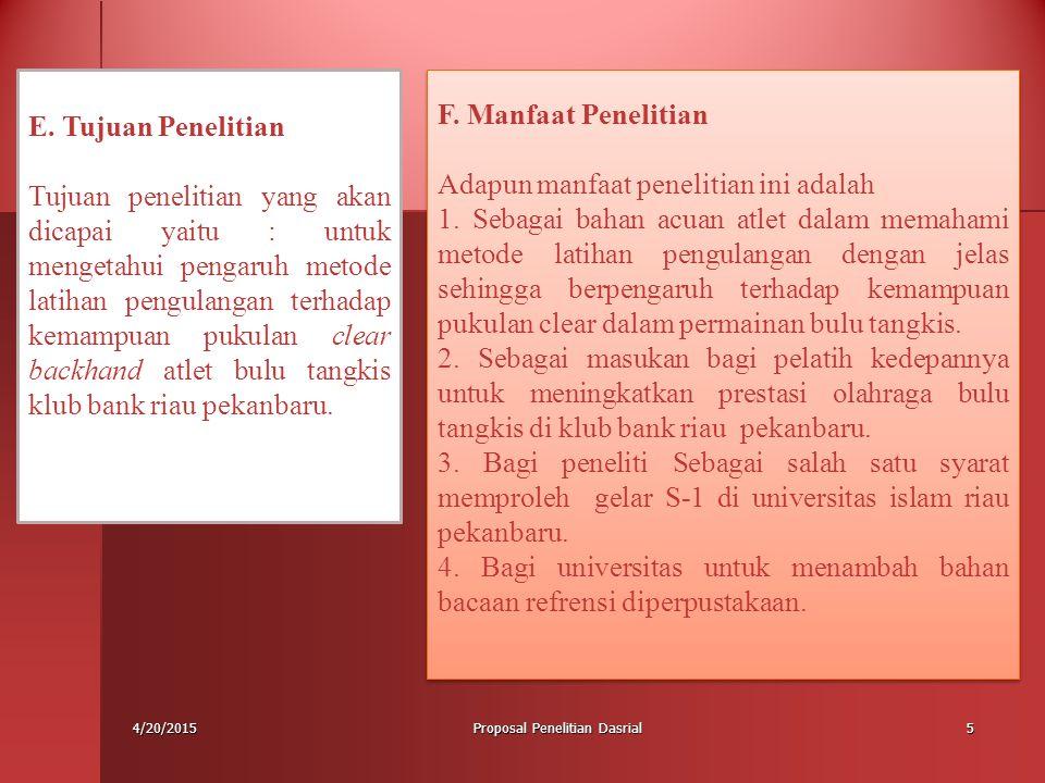 Proposal Penelitian Dasrial