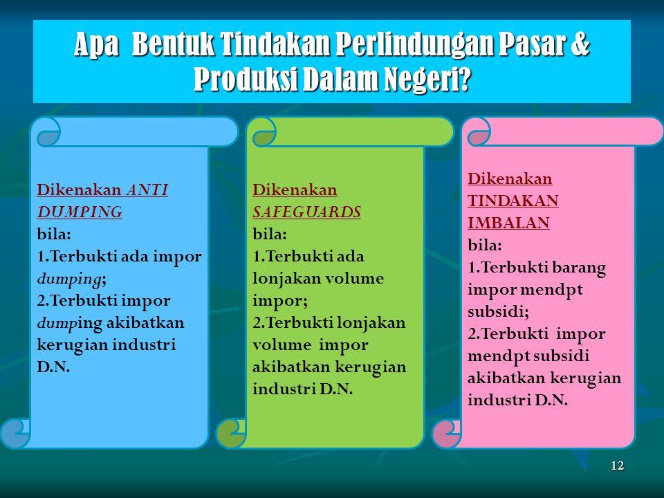 Apa Bentuk Tindakan Perlindungan Pasar & Produksi Dalam Negeri
