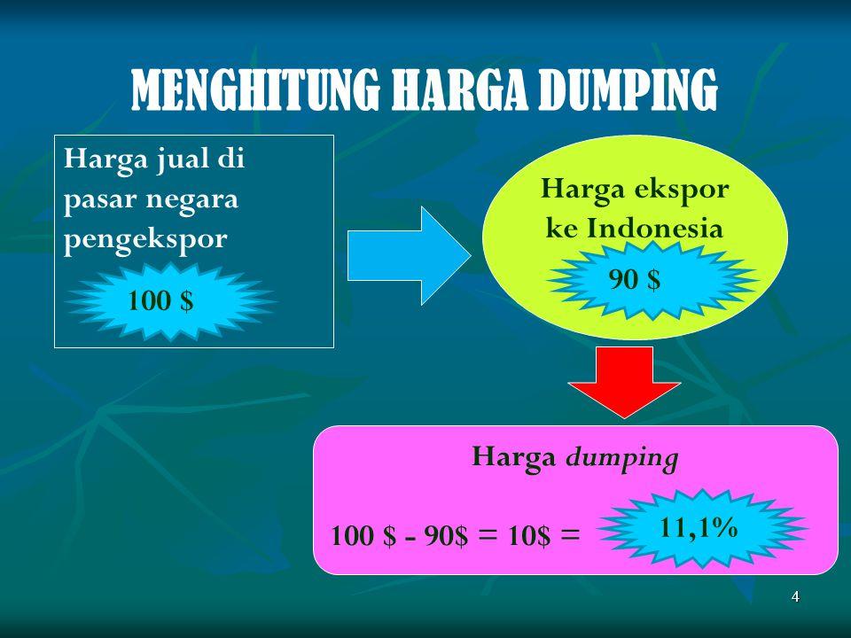 Harga ekspor ke Indonesia