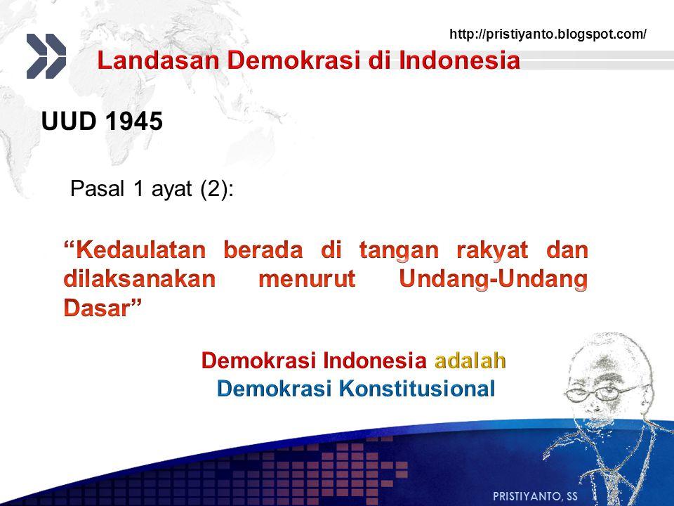 Demokrasi Indonesia adalah Demokrasi Konstitusional