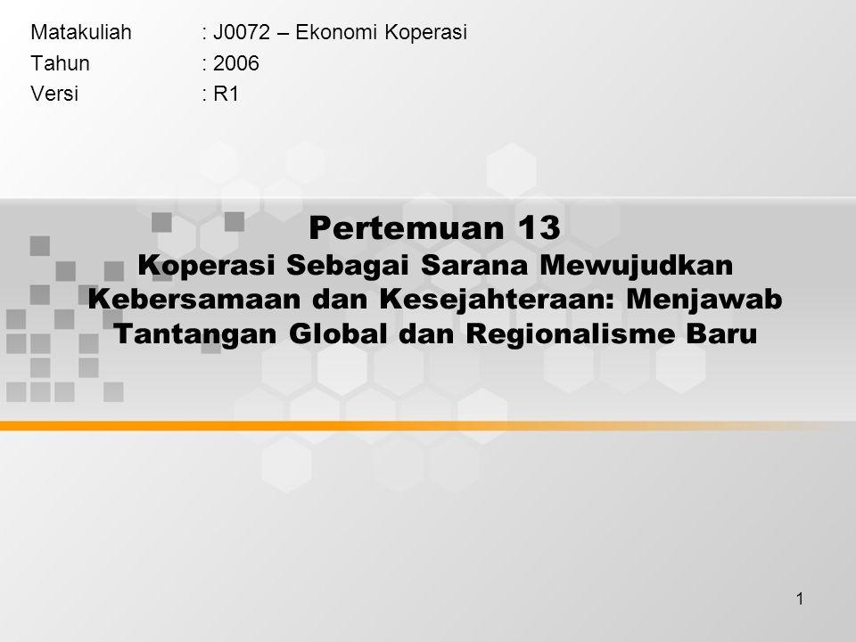 Matakuliah : J0072 – Ekonomi Koperasi Tahun : 2006 Versi : R1