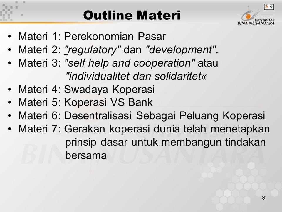 Outline Materi Materi 1: Perekonomian Pasar