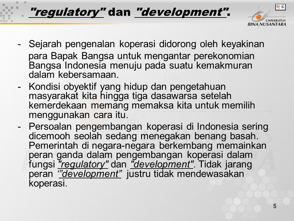 regulatory dan development .