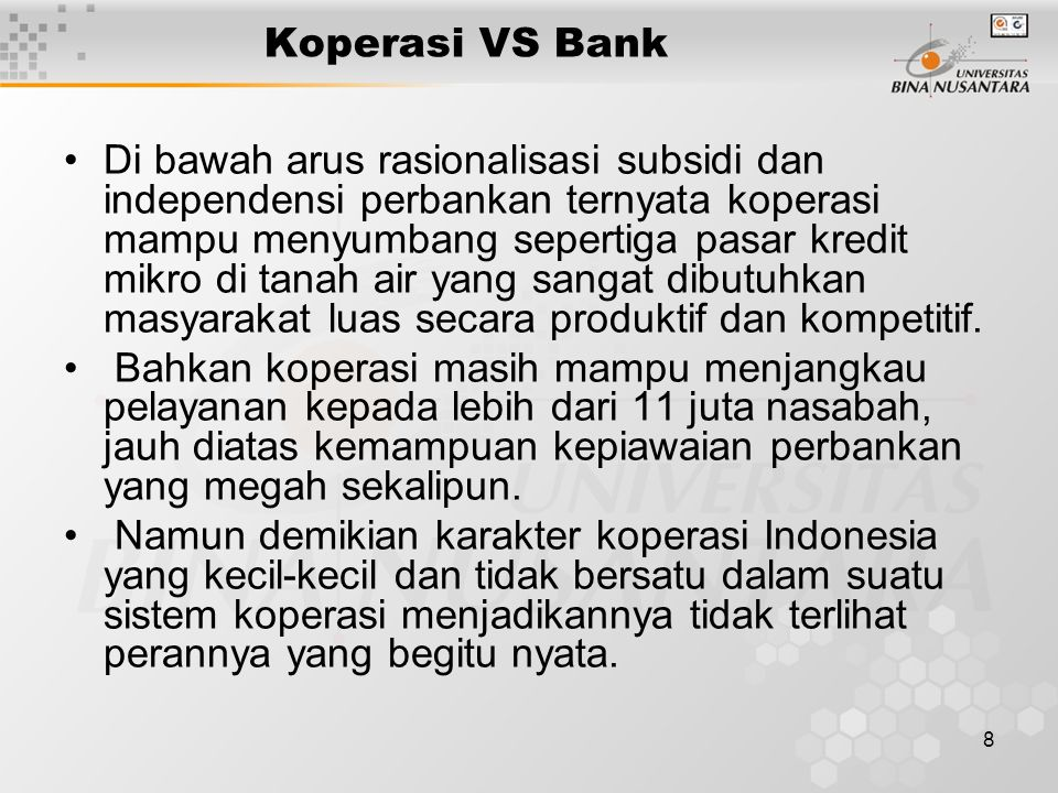 Koperasi VS Bank