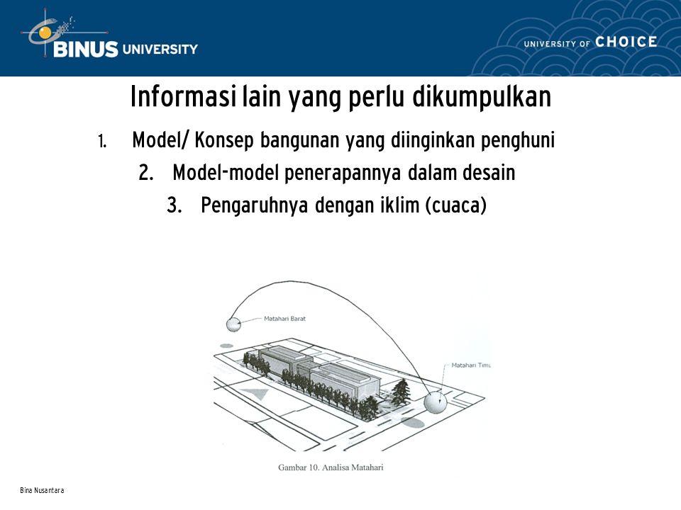 Informasi lain yang perlu dikumpulkan