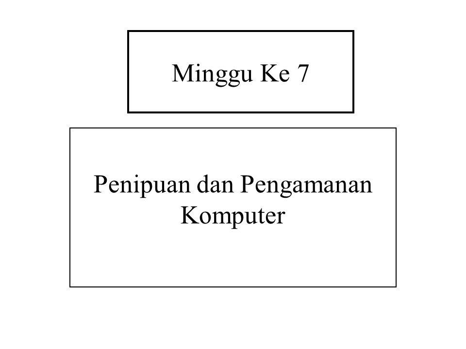 Penipuan dan Pengamanan Komputer