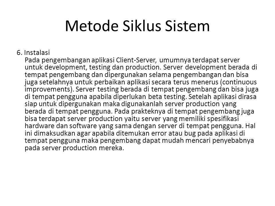Metode Siklus Sistem