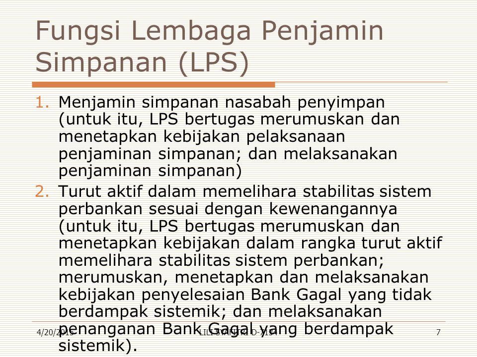 Fungsi Lembaga Penjamin Simpanan (LPS)